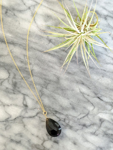 Smoky Quartz (3 Way) Gold Necklace
