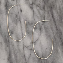 Large Silver Oval Hoops