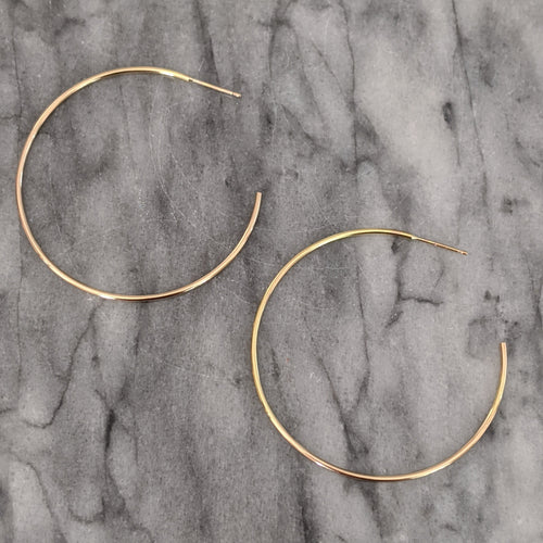 Large Gold Hoops (open in back)