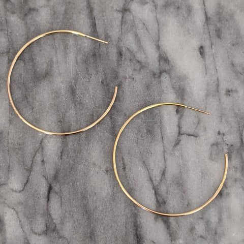 Large Gold Hoop Earrings (open in back)