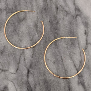 Medium Gold Round Hoops (open in back)