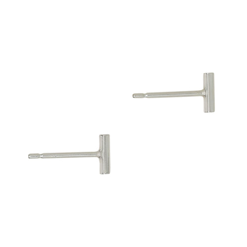 Sterling Silver Short Bar Studs