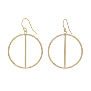 Gold Two Halves Earrings