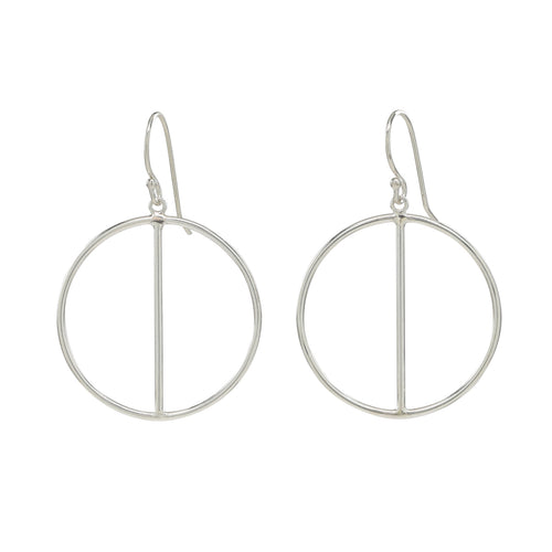 Silver Two Halves Earrings