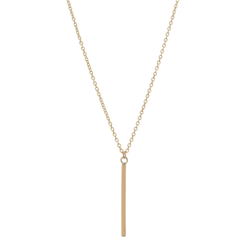Gold Short Bar Necklace
