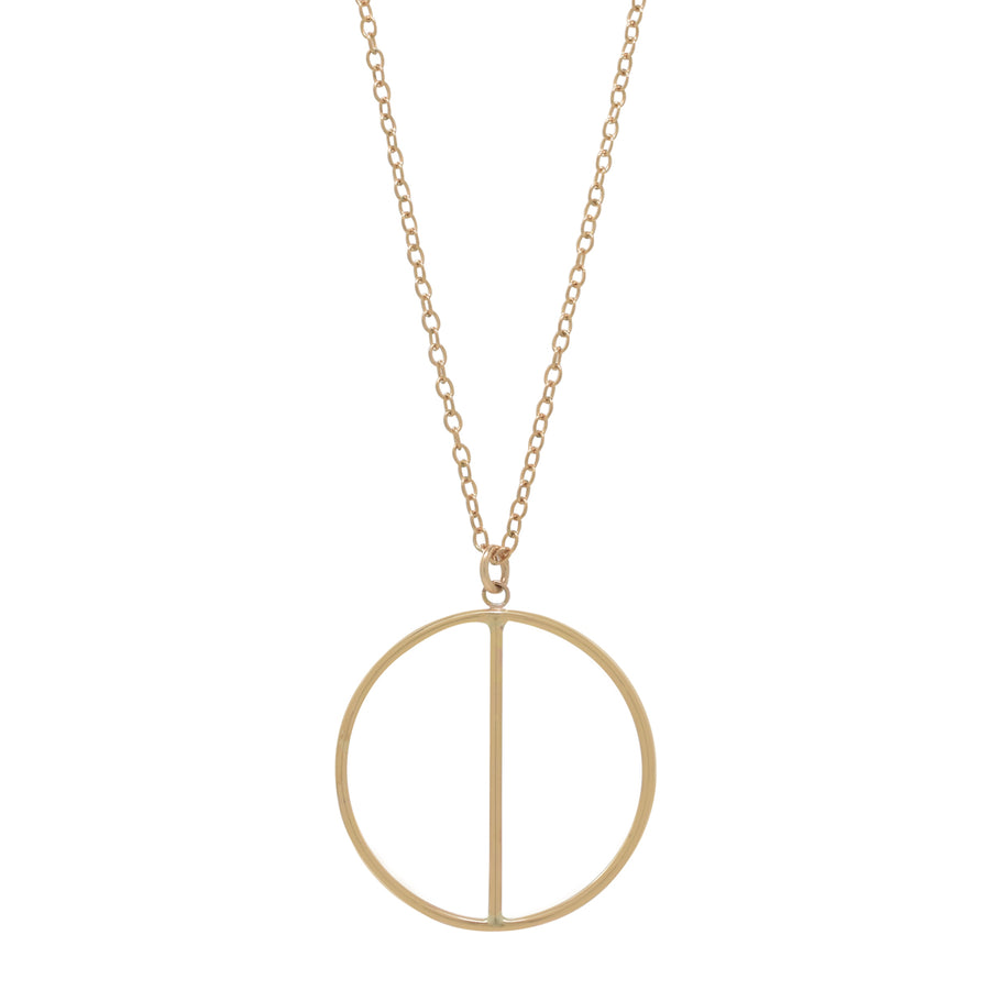 Gold Two Halves Necklace