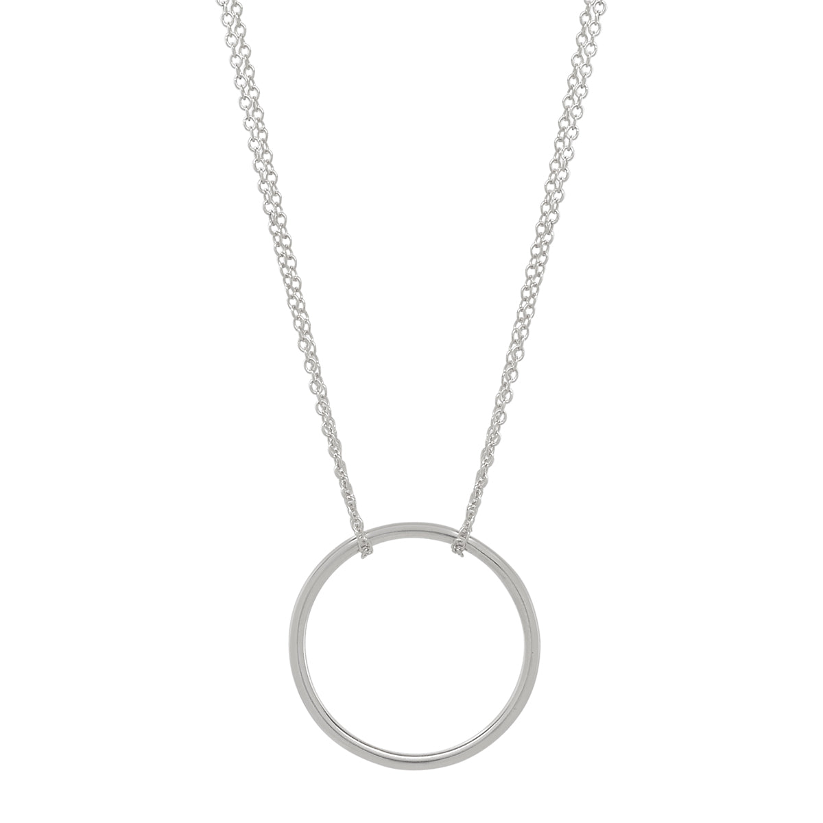 Silver Circle- Silver Chain Necklace