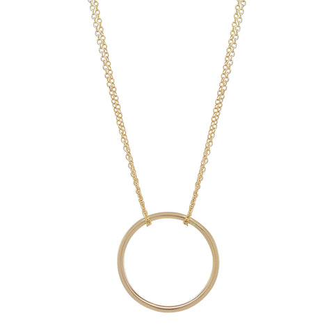 Gold Circle-Gold Chain Necklace