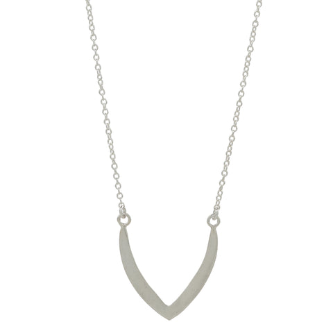 Silver Petal Necklace