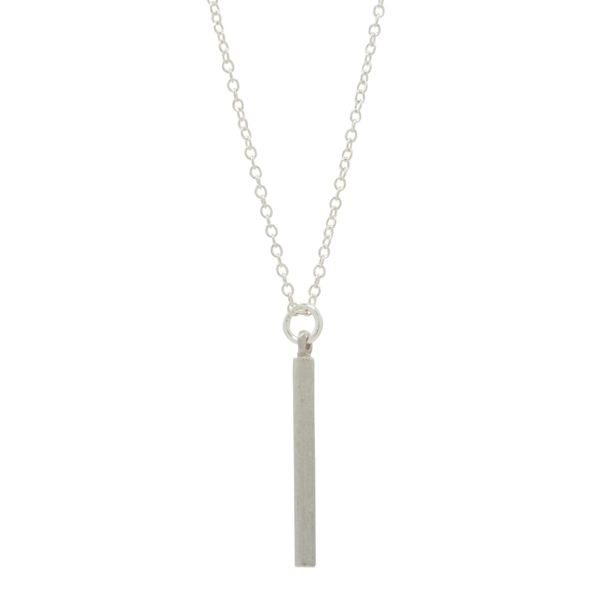 Silver Short Bar Necklace