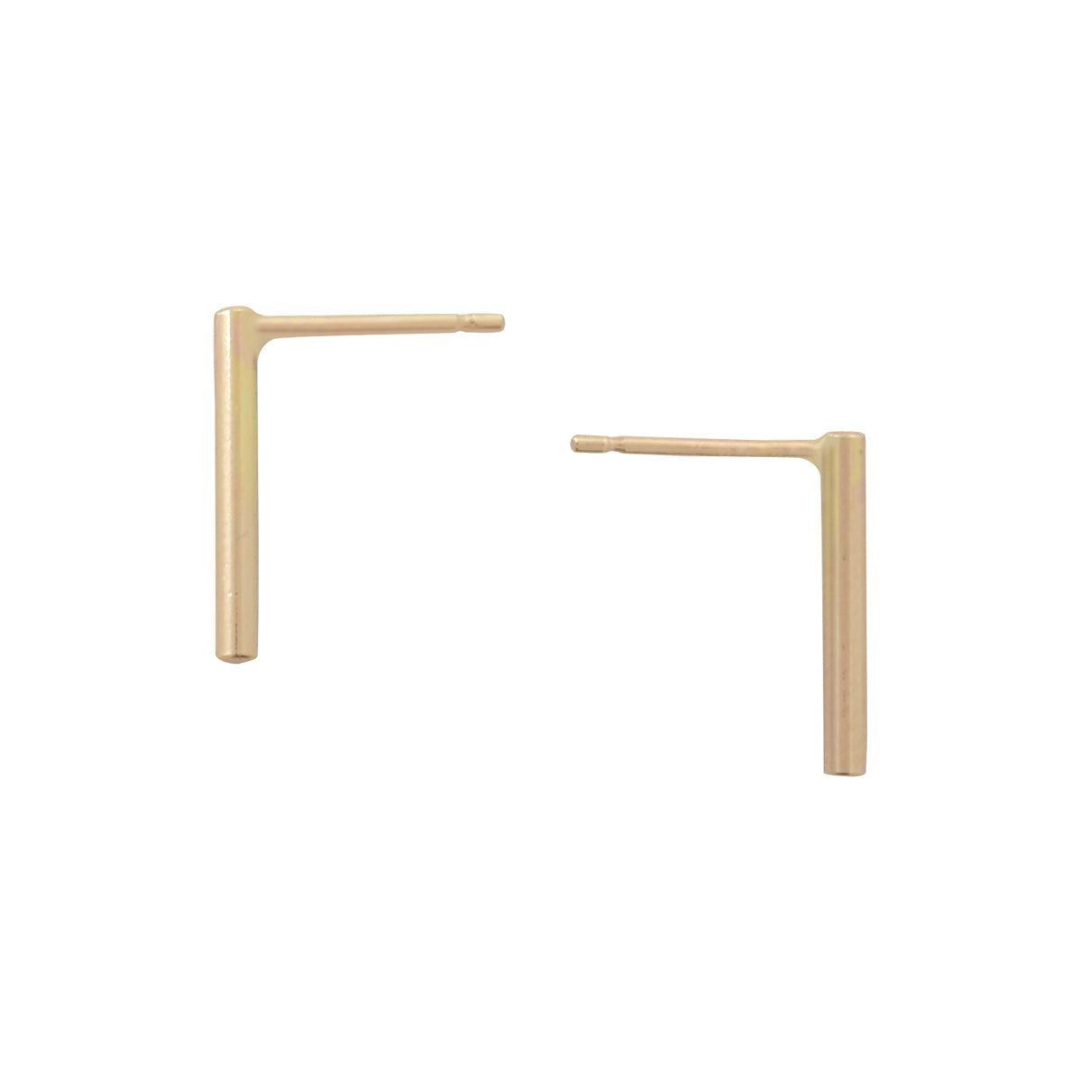 Medium Gold Bar Studs