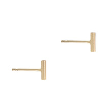 Small Gold Bar Stud Earrings