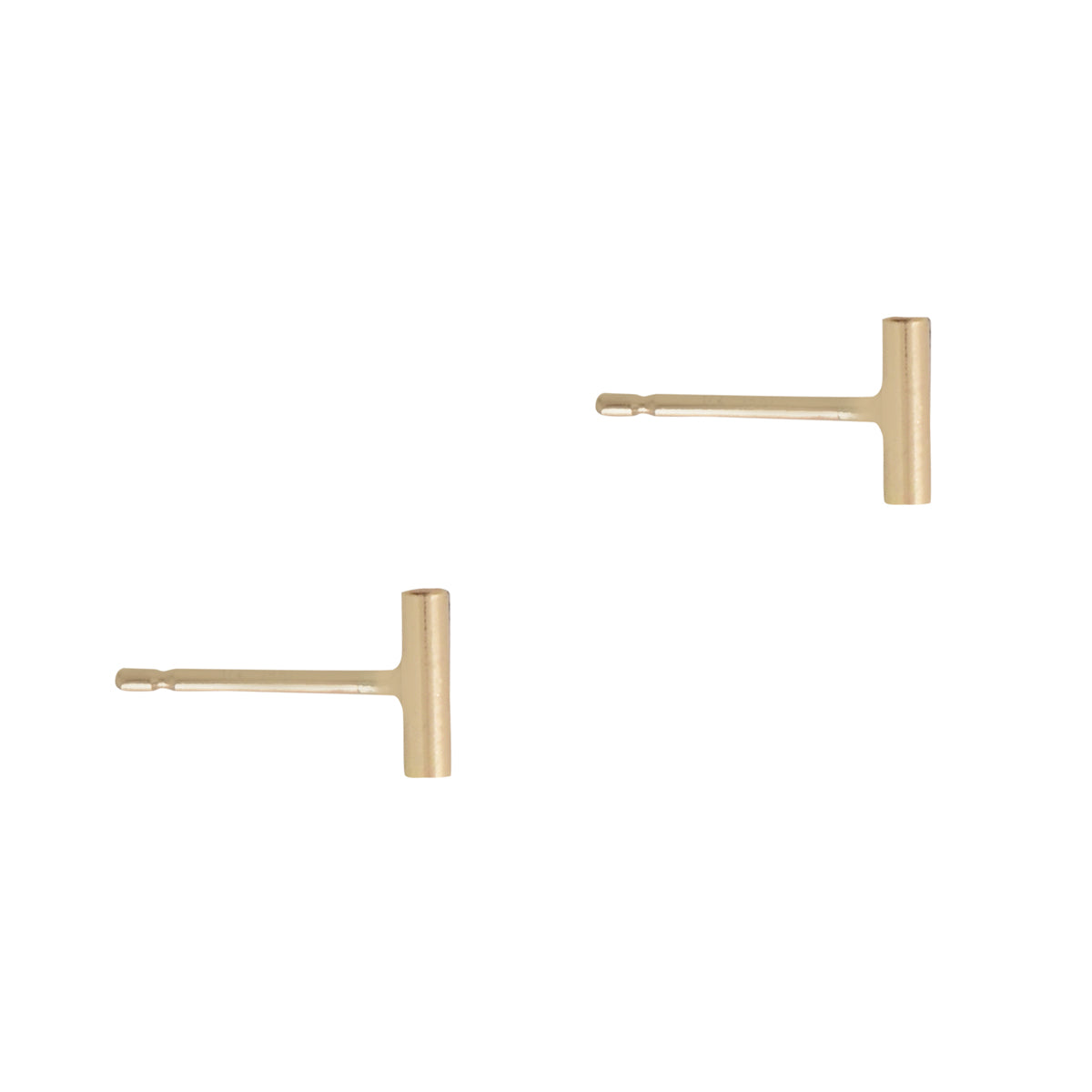 Small Gold Bar Studs