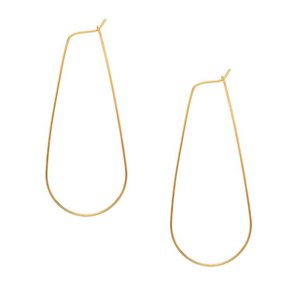 Large Gold Teardrop Hoops