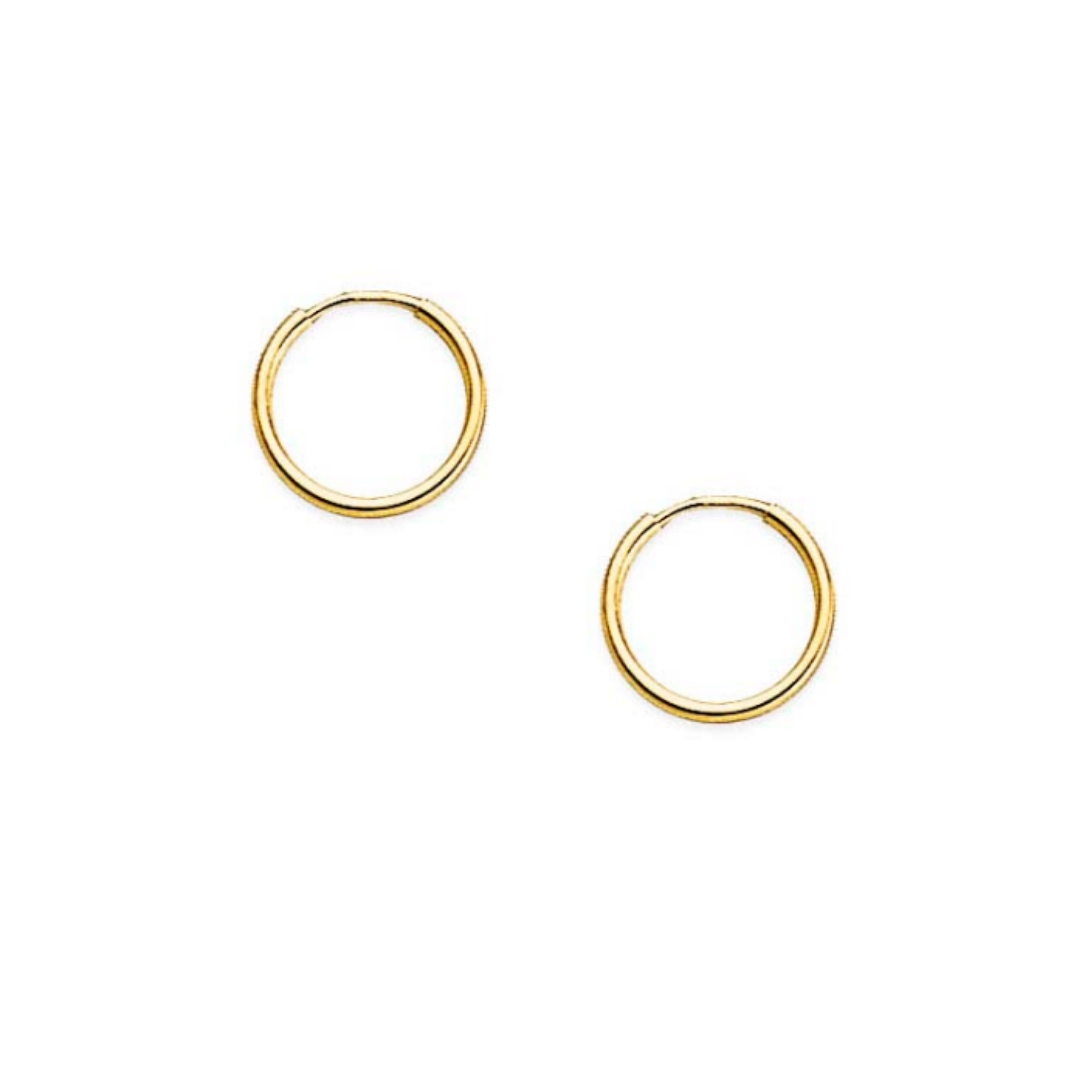 Extra Small Yellow Gold Endless Hoops