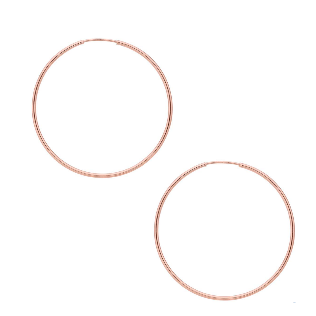 Medium Rose Gold Hoops