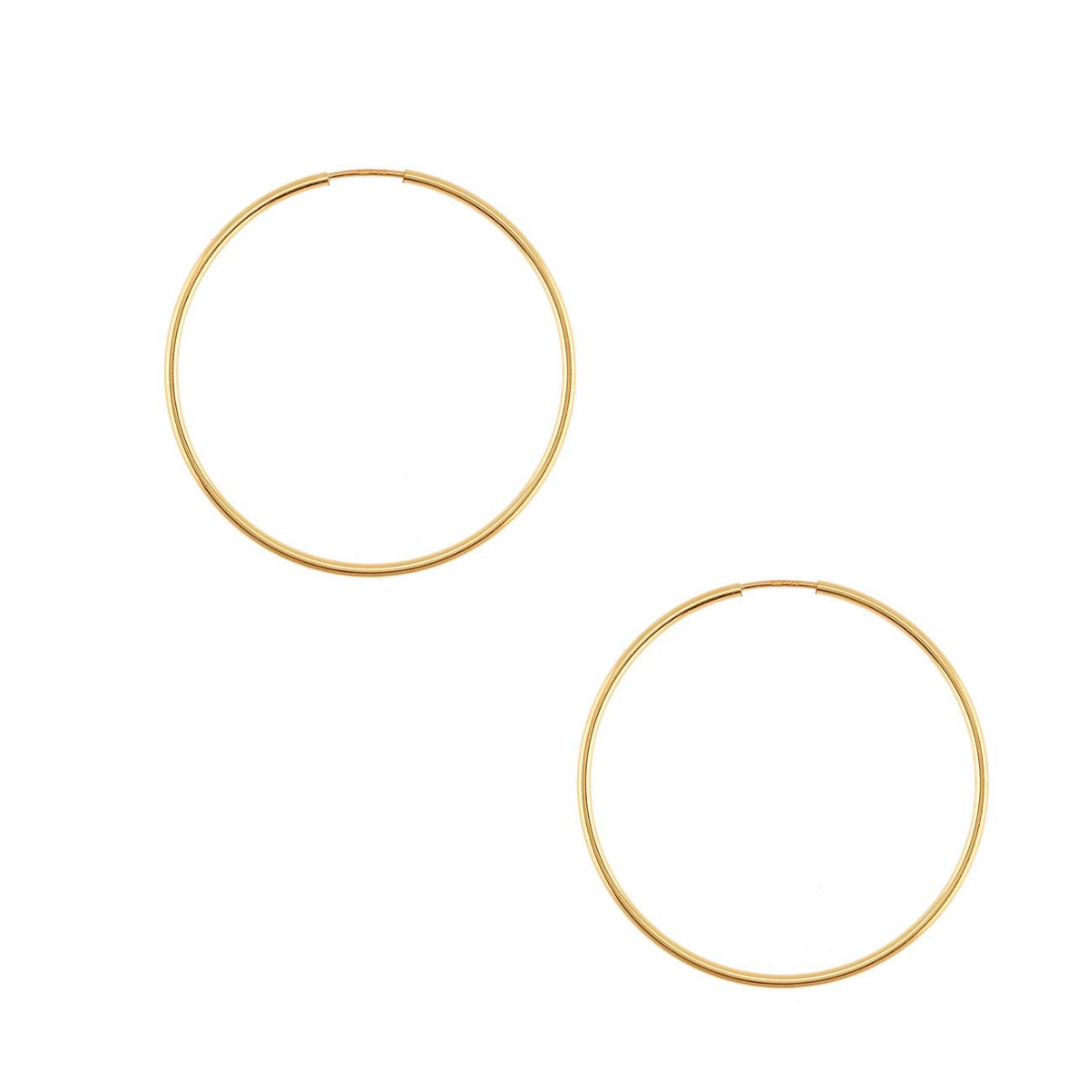 Medium Yellow Gold Endless Hoops
