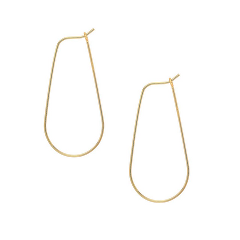 Small Teardrop Gold Hoop Earrings