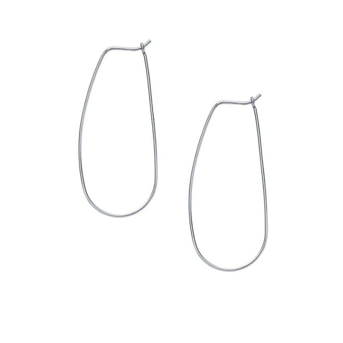 Small Sterling Silver Teardrop Hoops