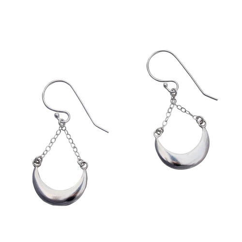 Hanging Moon Earrings