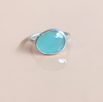 Sterling Silver Chrysoprase Ring