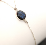 Sterling Silver Labradorite Lariat Necklace