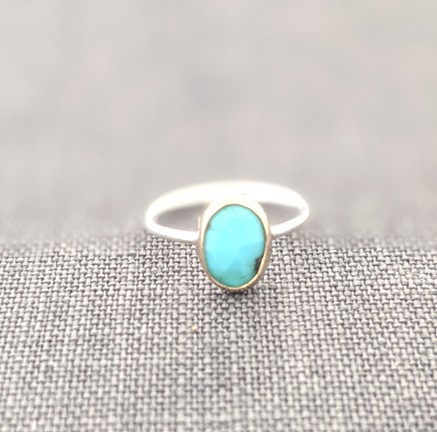 Mixed Metal Turquoise Ring