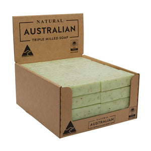 Natural Australian Triple Milled Soap Lemon Myrtle Oil & Leaf Shelf Ready Display