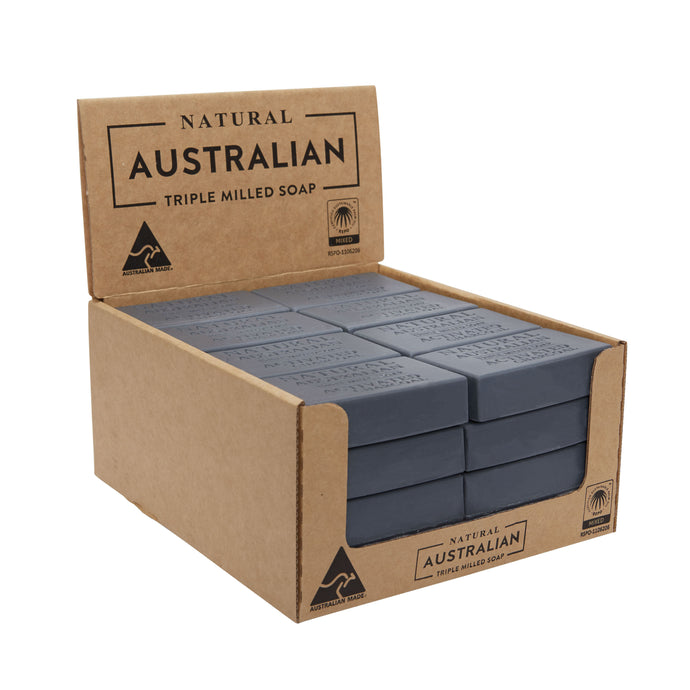 Natural Australian Triple Milled Soap Activated Charcoal Shelf Ready Display