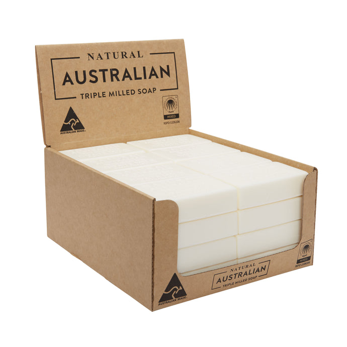 Natural Australian Triple Milled Soap Goats Milk & Macadamia Oil Shelf Ready Display