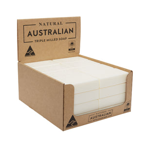 Natural Australian Triple Milled Soap Lime, Basil & Mandarin Shelf Ready Display