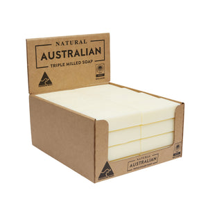 32 x 100g Frangipani & Coconut Oil Soap | Shelf Ready Display