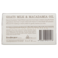 Goats Milk and Macadamia oil australian triple milled soap
