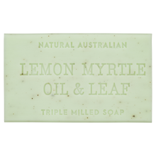 Lemon Myrtle Oil and Leaf 200g australian triple milled soap