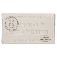 oatmeal and shea butter 200g australian triple milled soap bar
