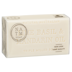 lime, basil and mandarin oil 200g australian triple milled soap bar