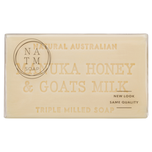 manuka honey and goats milk 200g australian triple milled soap bar