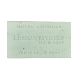 lemon myrtle oil and leaf 100g soap