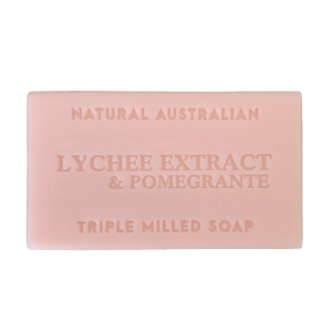 Lychee Extract and Pomegrante Soap 100g