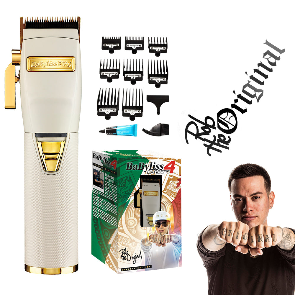 BABYLISS PRO WHITE FX LITHIUM CLIPPERS | BARBERS INFLUENCER COLLECTION