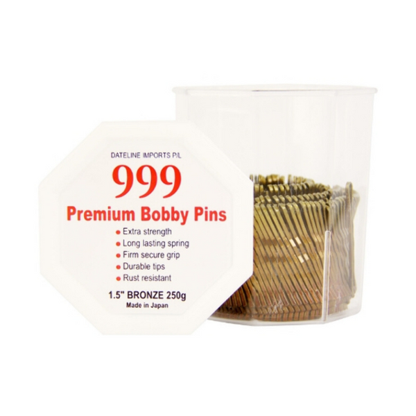 "999 Bobby Pins Small 1.5"" Bronze"