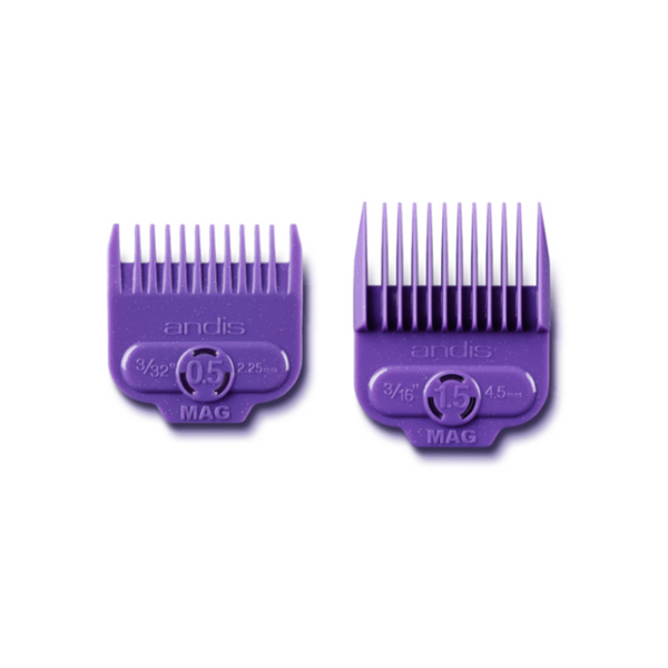 Andis Magnetic Attach Comb Set (#0.5 & #1.5) 2PCS