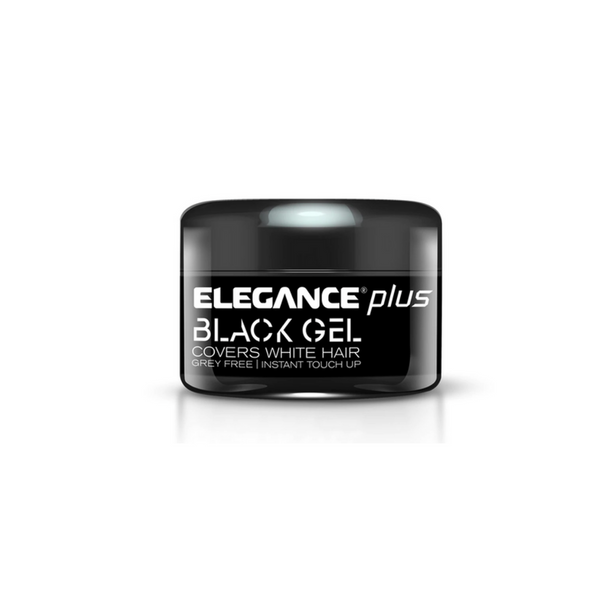 Elegance Plus Gel + Color (Cover White Hairs) 100ml - Black