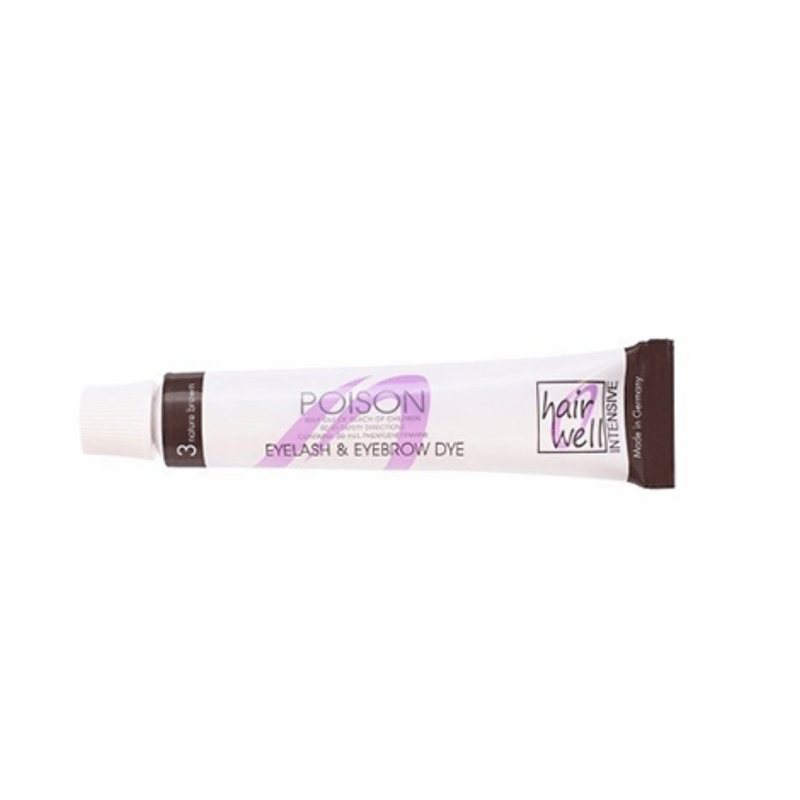 Hairwell 3 Natural Brown 20ml brow and lash tint.
