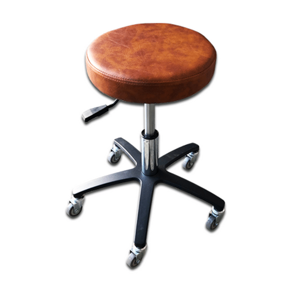 Round Adjustable Stool Brown