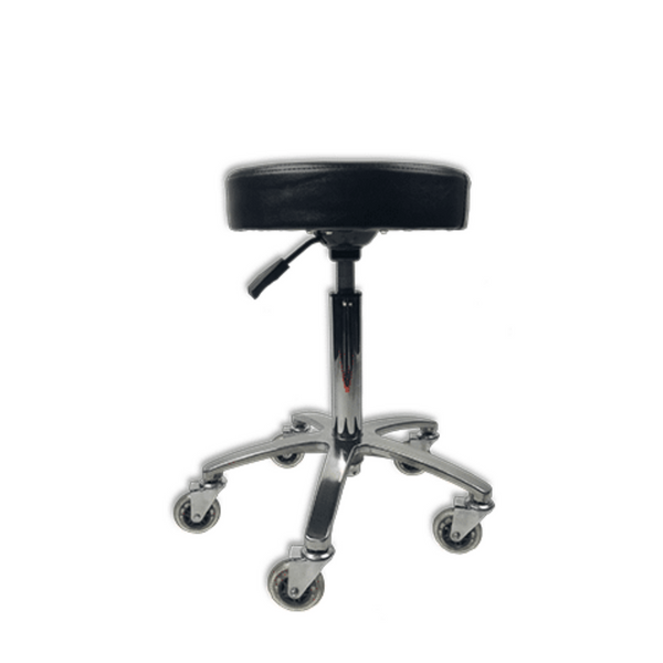 Round Adjustable Stool Black