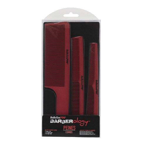 BaByliss Pro Barberology Barbers Flat Hair Clipper Cutting Comb Set
