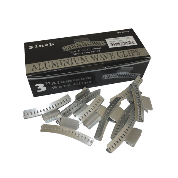 3 Inch Aluminium Wave Clips (24 Pack).