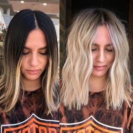 Professional hair colouring results, blonde hair colour, blonde results