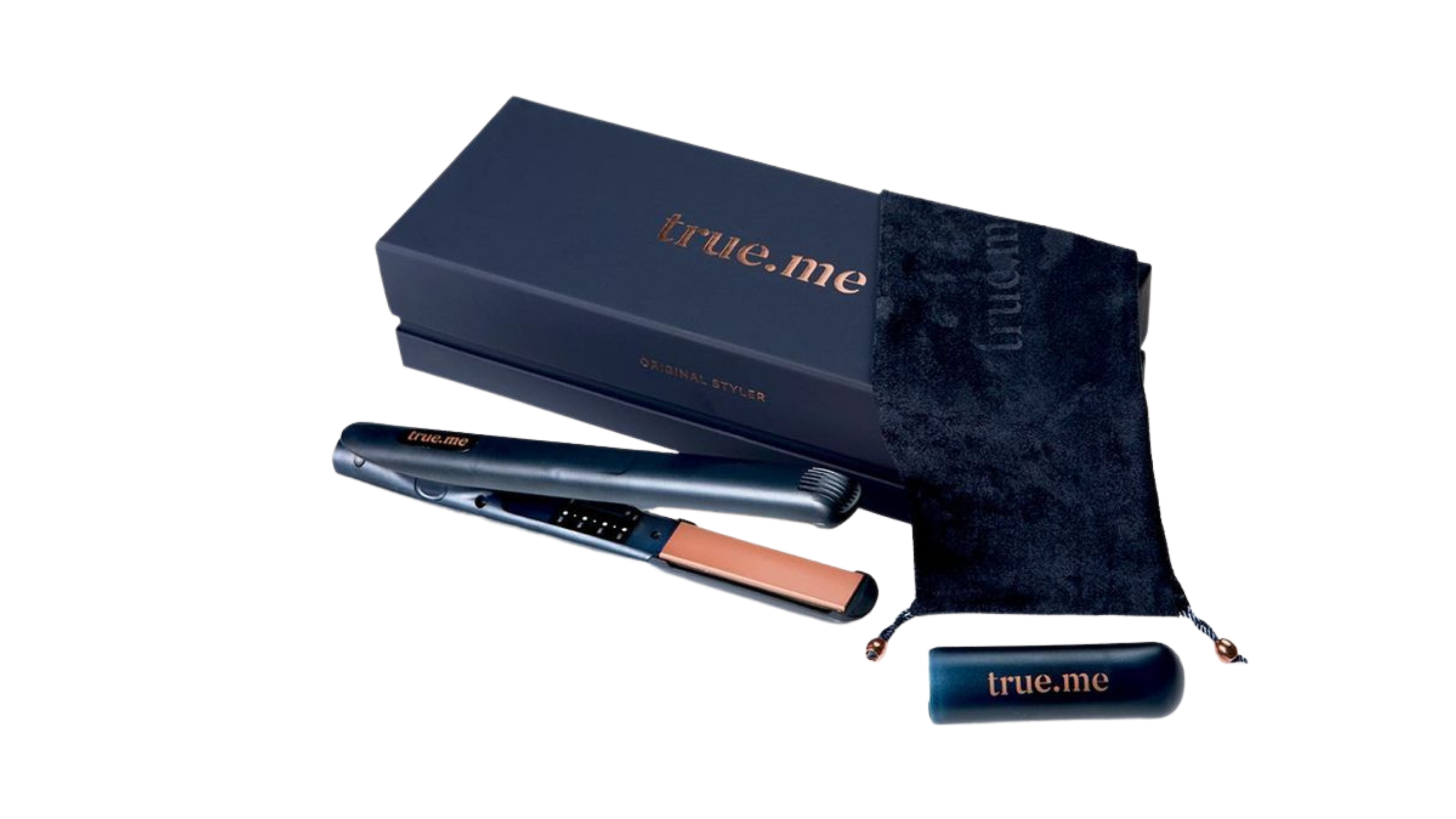 True Me Wide Hair Straightener with Keratin Infused Plate